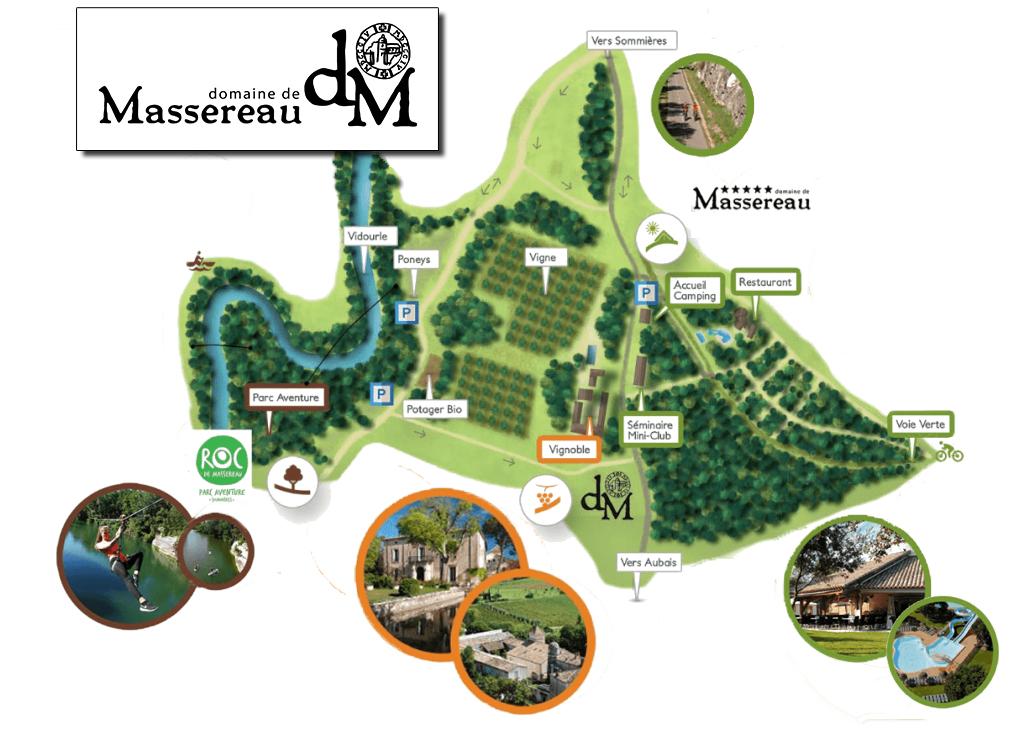 Plan du domaine de Massereau à Sommières dans le gard